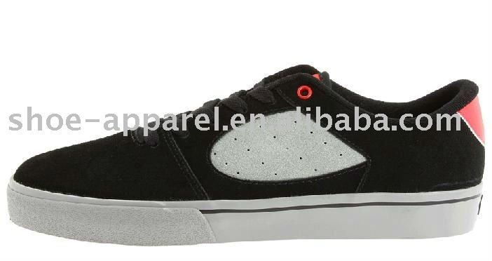 black suede skate shoes for man