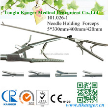 Reusable Surgical laparoscopic needle holder/straight head/curved head