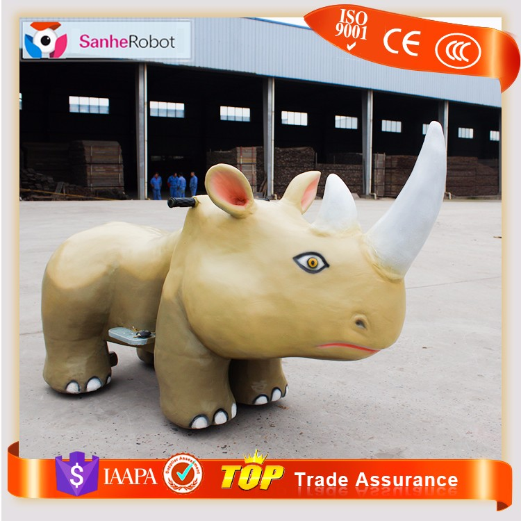 Sanhe sale popular rhino shape scooter ride on animal toy