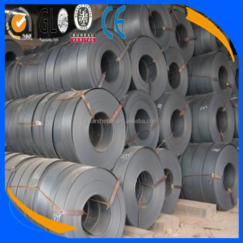 Q195, Q235 ,Q345, Hot Rolled/Rolling Black Painted Steel Strapping/Strip/Band