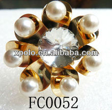 Fashion Gold Plated Pearl And Crystal Anti Dust Proof Plug For Headphone Jack