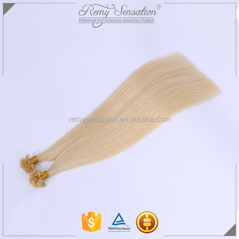 High Quality Blonde Human Hair V Tip Fusion Prebonded Extensions