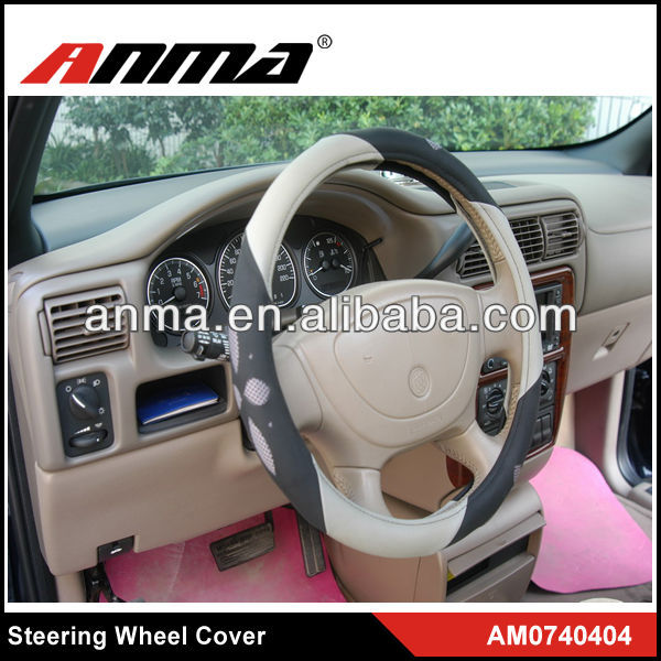 Customized suede\channel steering wheel cover