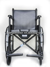 Economical Steel Manual Wheelchair with Toilet/Commode