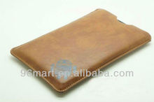 Leather Case Cover Sleeve Pouch for Amazon Kindle Fire HD 7 inch Tablet - Brown