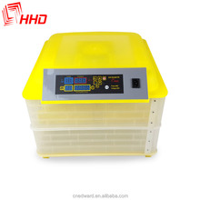 HHD Automatic Chicken 96 egg hatcher with plastic incubator chicken and bird egg