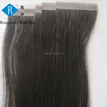 Trade Assurance High Quality 100% Hand Tied PU skin weft hair extension