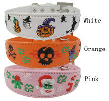 Pet supply Embroidery Leather Collar Pet Products
