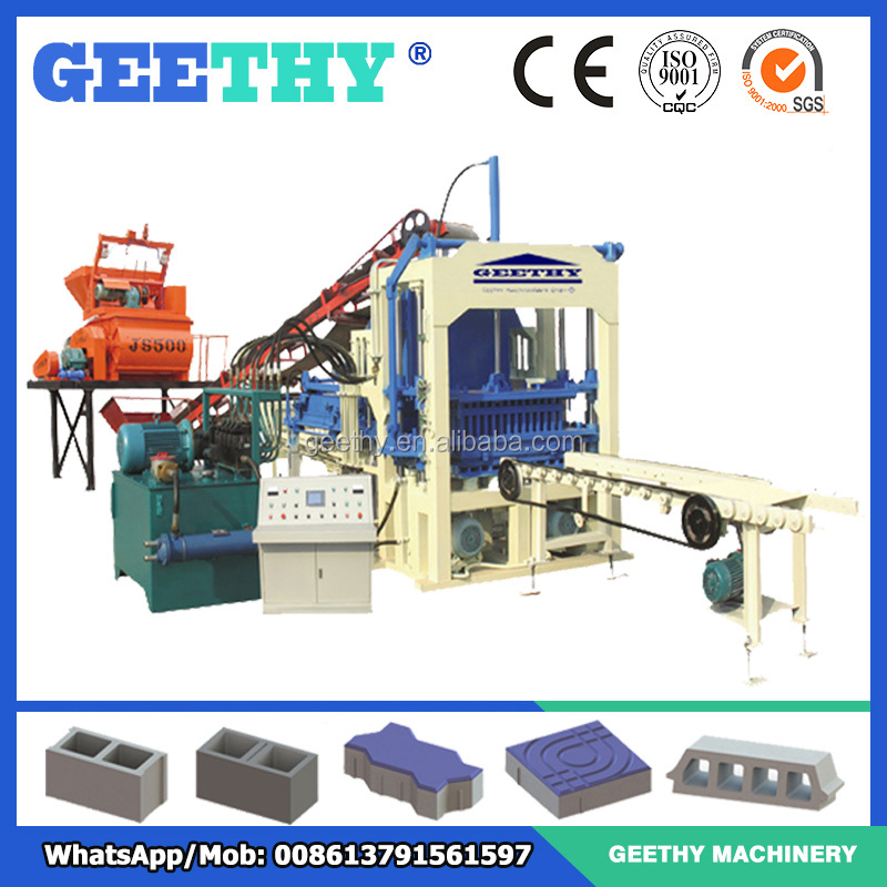 hydraulic brick making machine pakistan QT4-15C machines for concrete pavers