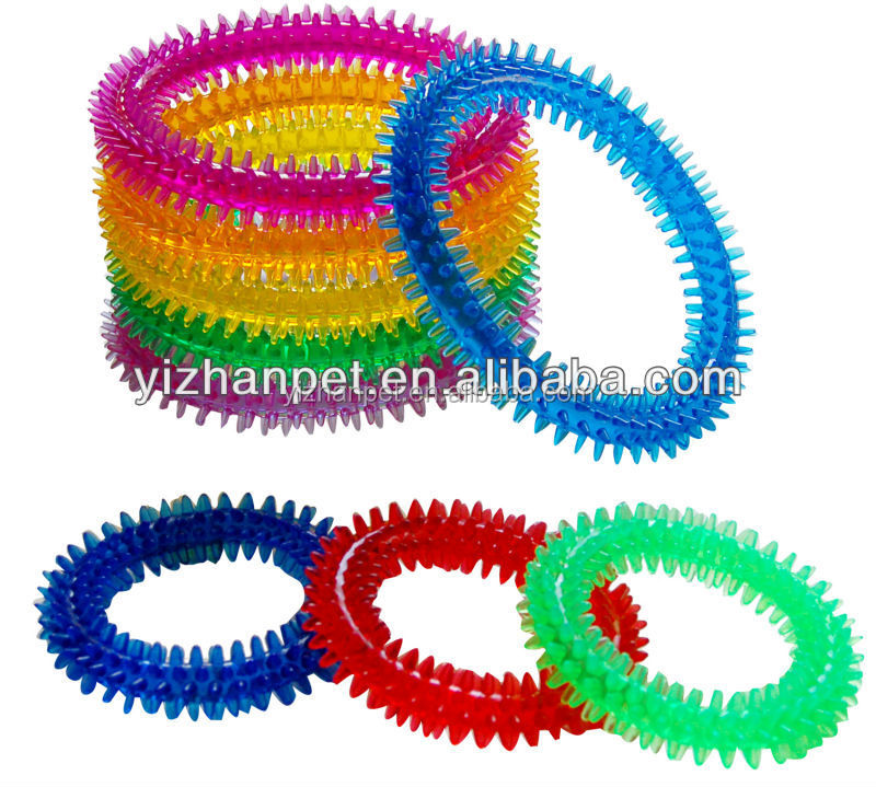 TPR spiky circles for dogs dia various red green blue and so on Dog pet customized packaging durable toys free samples
