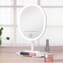 Small order accepted white color fascinate cosmetic mirror / led make up mirror