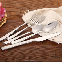 stainless steel wedding spoon and fork set