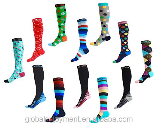 Recovery Performance Sports Compression Socks for Running, Nurses, Shin Splints, Flight Travel