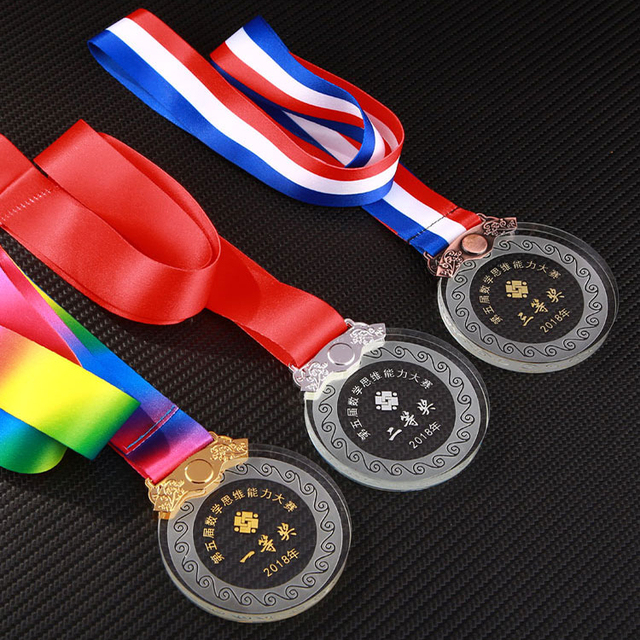 Customized Crystal glass trophy medal for sports souvenir gifts