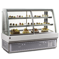 High end glass display fridge showcase cake display fridge with CE certification