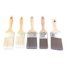 Natural and Synthetic PET Filaments Paint Varnish Brushes with Hard Wood Handle