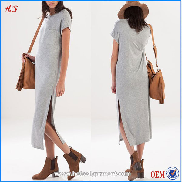 Wholesale Woman Clothing Maxi Blank T-shirt Dress Tall Tube Women Sexy Maxi Dress