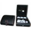 Black Leather box golf glove and ball souvenir golf gift set