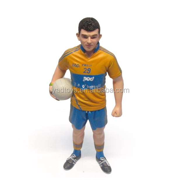 Football action figure/china manufactured football player/3d custom football player action figure