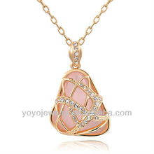 Opal pendant hot fashion channel costume jewelry necklaces