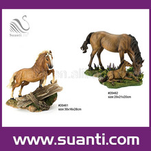 Resin factory decorative horse figurine, wild animal statue home decoration
