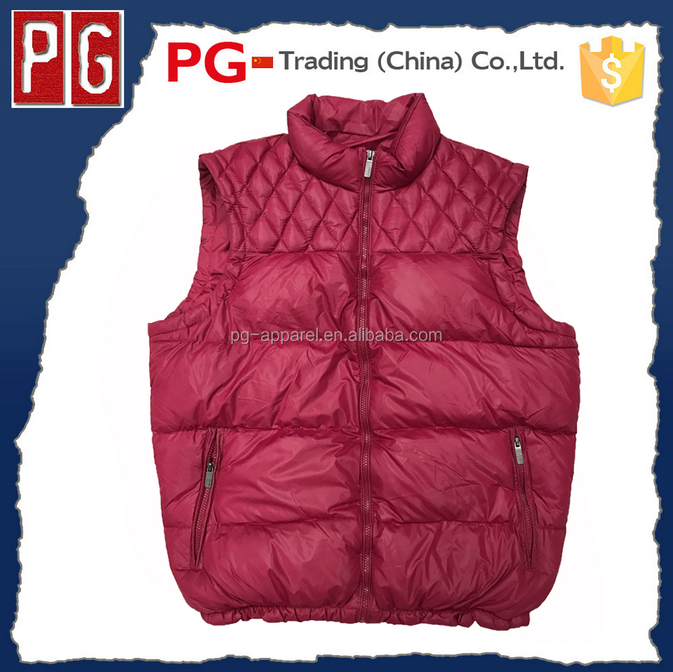 Men's padded cold vest wholesale apparel stocklot