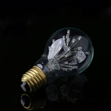 e27 fireworks led lamp 110v 220v holiday lights novelty edison filament bulb A60 for home christmas decor lampada bombillas