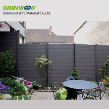 eco-friendly wood plastic composite wpc fencing panel system