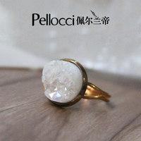 Aura quartz crystal ring for sale