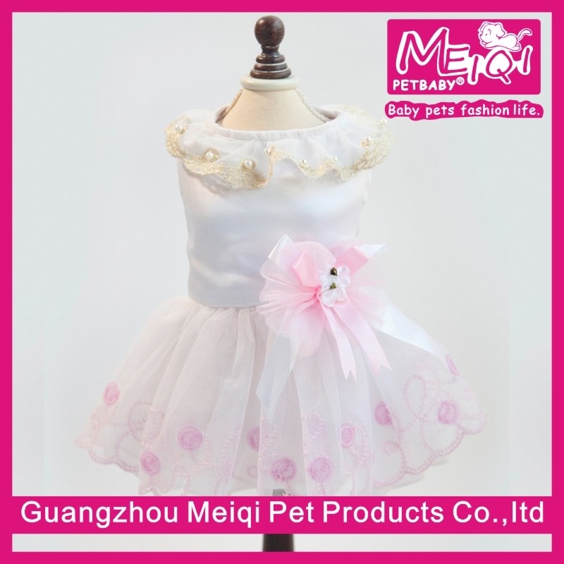 New Design White Dog Dress pretty dress for dogs best quality breed dog for adoption