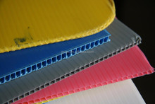 high quality 2mm 3mm 4mm 5mm 6mm corrugated pp plastic twin wall fluteboard correx hollow water bottle layer pads sheet