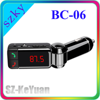 bc-06 LCD FM Transmitter & Bluetooth car charger Dual Port Car USB Charger for Phone