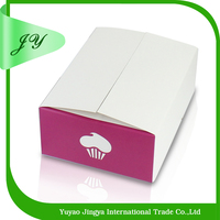 Paper cupcake packing box custom made fancy Luxury cardboard Coated paper cake box