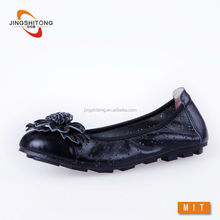 Soft and foldable real leather footwear