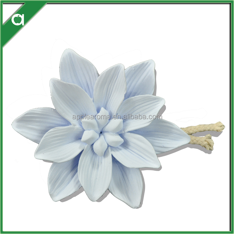 handmade ceramic flowers for fragrance oil diffuser