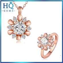 Oem professional rose gold chain jewelry sets
