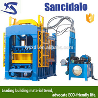 2016 hot sell CE approved vibrated hollow sandcrete block machine with best quality and low price