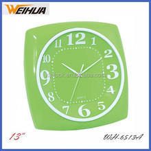 Kitchen tempered glass square clock