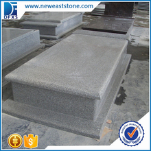Chinese pearl grey granite natural stone tombstone