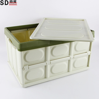 plastic high quality auto outdoor foldable laundry storage basket collection for car with lids
