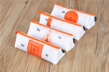 Food grade plastic kids pvc pencil case