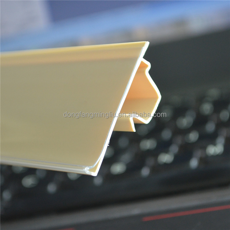 blue extrusion clip colored plastic strips