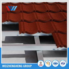 China colorful metal stone roofing sheets / aluminium zinc steel coated roofing tile