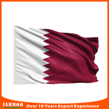 Wholesale cheap festival promotion hand flag of qatar
