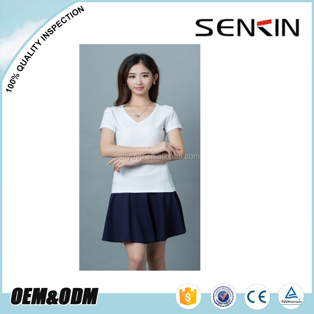 Fashion Plain T Shirts For Women High Quality Plain Dyed