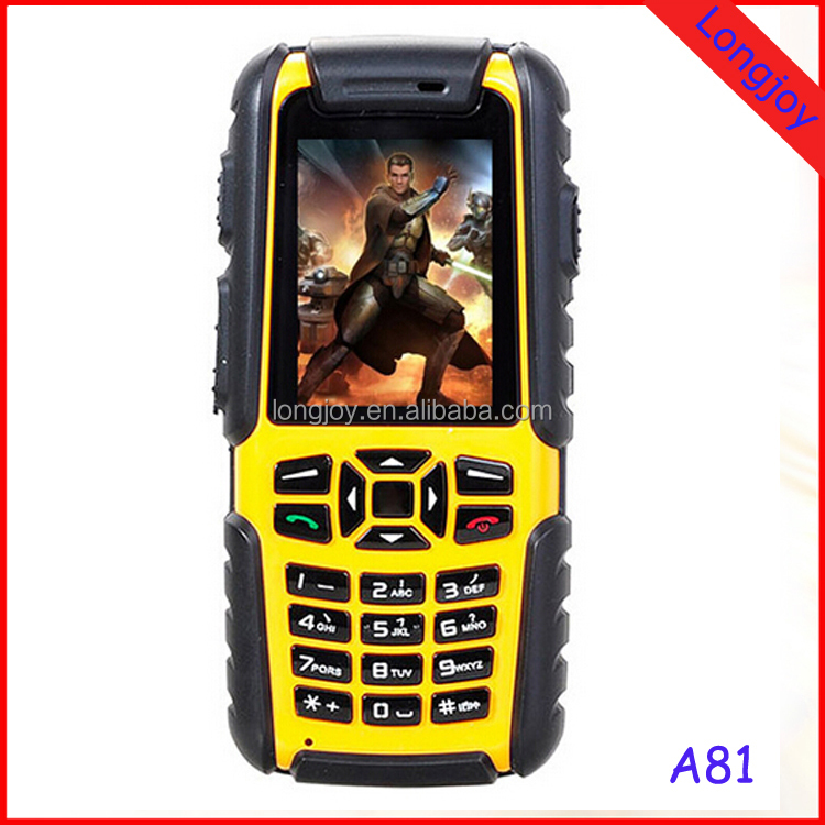 Rugged Moblile Phone A81 IP67 Waterproof Dustproof Shockproof Rugged Phone Outdoor Mobile Phone With Dual SIM 2.0inch