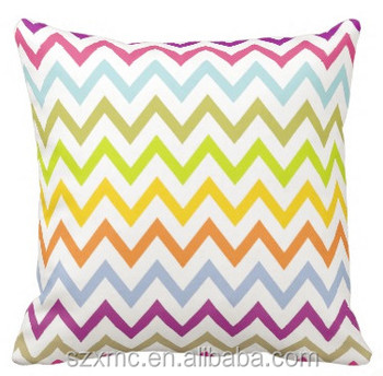 Top selling custom size colors sofa decor chevron pillow
