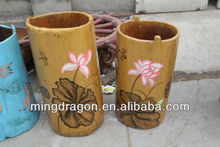 Chinese antique colorful wooden decorative barrels