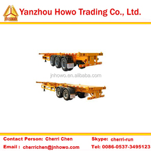 axle optional container shipping skeletal semi trailer