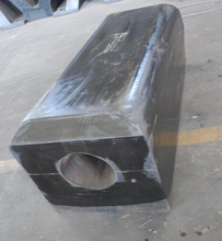 natural rubber square shape solid fender from China